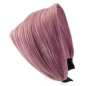 axy HR31 Haarreif Serie 31 Stoff Hair Band mit Glitzerfäden
