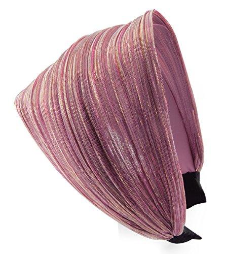 axy HR31 Haarreif SERIE 31 Stoff Hair band mit Glitzerfäden (Pink)