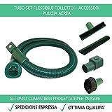 Tubo Flessibile + Accessori Compatibile Per Vorwerk Folletto VK 200 150 140 136 135 131 130 122 121 120 - Garanzia 24 Mesi Figevida