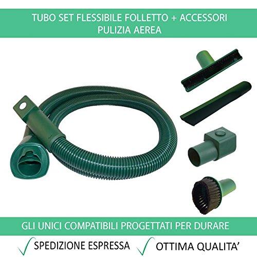 Tubo Flessibile e Accessori Compatibile Per Vorwerk Folletto VK 200 150 140 136 135 131 130 122 121 120 Garanzia 24 Mesi Figevida