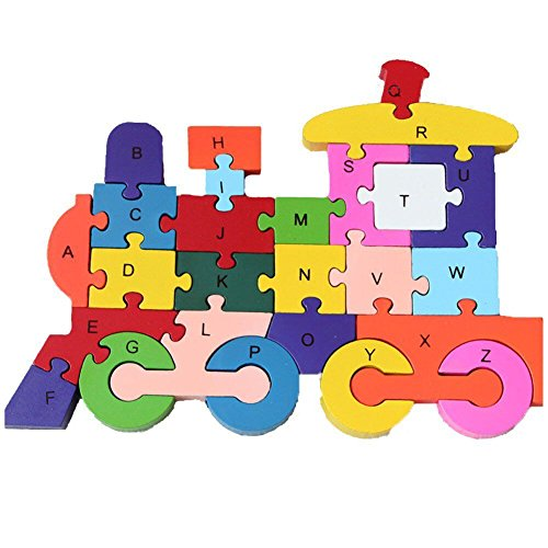 Woop Zahlen-puzzle Holz Lokomotive - Klein-Kinder ab 3 Jahre