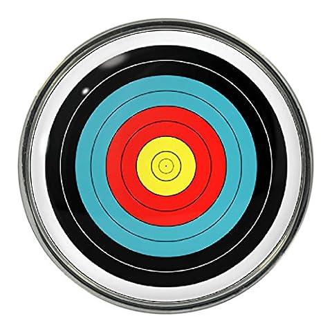 Archery Target Design Metal Pin Badge