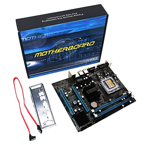 WEIWEITOE-DE G31 Computer Motherboard Dual-Core 771 Mainboard LGA 775 Motherboard 771/775 Dual-Board DDR2 VGA Hohe Kompatibilität, Mehrfarbig, - Dual Core Motherboard