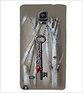 PrintDhaba Key Pendant D-2310 Back Case Cover for SAMSUNG GALAXY NOTE 2 (Multi-Coloured)