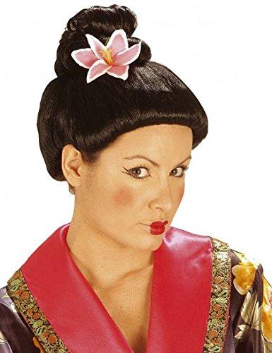 Geisha Perücke Asiatin Asia mit Blume Fujiko