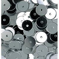 efco plano redondo lentejuelas, plata, 6mm, 10g, 1000