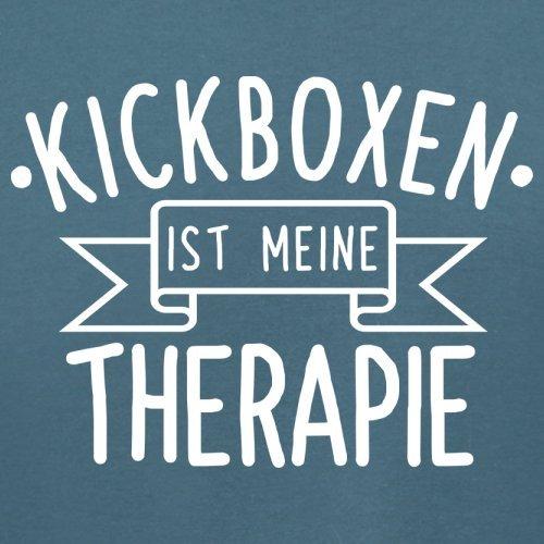 Kickboxen ist meine Therapie - Damen T-Shirt - 14 Farben Indigoblau