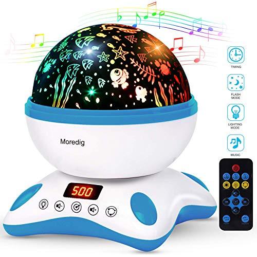 Moredig - Música lampara proyector estrellas 360