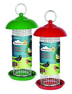 Gardman A01906 Kids Wild Bird Peanut Feeder - Green/Red by Gardman