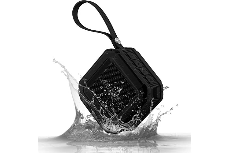 Bluetooth Speakers, Archeer Portable Outdoor Speakers Water Resistant with Microphone, Powerful 5W Driver with Enhanced Bass, 20 hour Playtime, for Shower/Sports, iPhone 6S Plus, iPad, Samsung Glaxy S7, MP3 and more - A106 Black