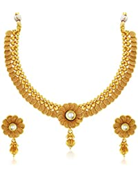 Sukkhi Wedding Collection Jewellery Sets for Women (Golden) (2550NGLDPP1800)