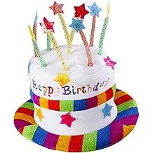 Widmann 2637H Cappello Happy Birthday in Velluto, Multicolore, Taglia Unica