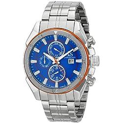 Joshua & Sons Reloj analógico Display cuarzo suizo Plata para Hombre