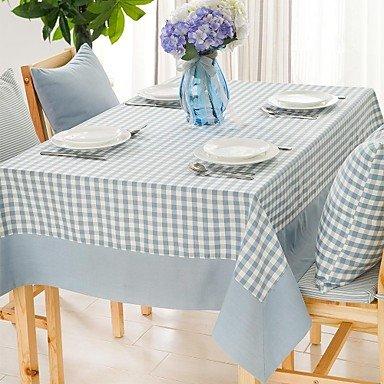 """Preisvergleich Produktbild ALUK-hellblau kleinkariert Quadrat Tischtuch, Polyester 51 """"x70"""", 55x94 """""""