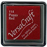 Versacraft vks-114â papavero rosso 25Â x 25Â mm Small Fabric Cube inchiostratore