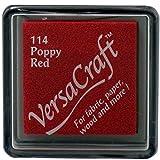 Versacraft vks-114 Poppy - Almohadilla de tinta (25 x 25 mm), color rojo