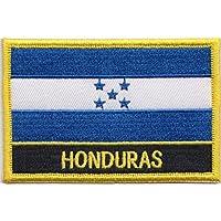 Honduras bandera bordada insignia Rectangular/hidromorfona o hierro EN - Diseño exclusivo de 1000 autodhesivos