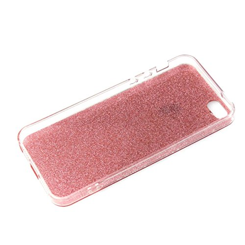 MOONCASE iPhone 5 Coque, Bling Glitter Etui TPU Silicone Antichoc Housse Case pour iPhone 5 / 5s / SE (Rose Fille - Or) Rose Fille - Violet