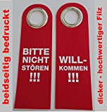 GKA Türanhänger Filzschild Dekoschild Türstopper Schild Türschild Filz...