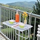 Tavolo pieghevole da ringhiera - per il tuo balcone!