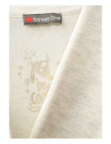 Street One, Gilet Femme Beige (Creamy White Melange 21158)