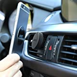 AUKEY HD-C5 Car Phone Holder Air Vent Magnetic Phone Mount for iPhone 7 / 6S / 6 / 5s / 5 , Samsung Note 8 / S8 , Nexus and Other Android , Windows Smartphones - Black