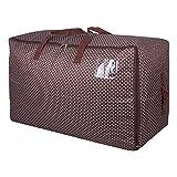 DOKEHOM DKA1011BN2 Aufbewahrungstasche für Stauraum unter Dem Bett, groß, 100 l, extradickes Material, feuchtigkeitsbeständig, in 4 Farben erhältlich (Braun)