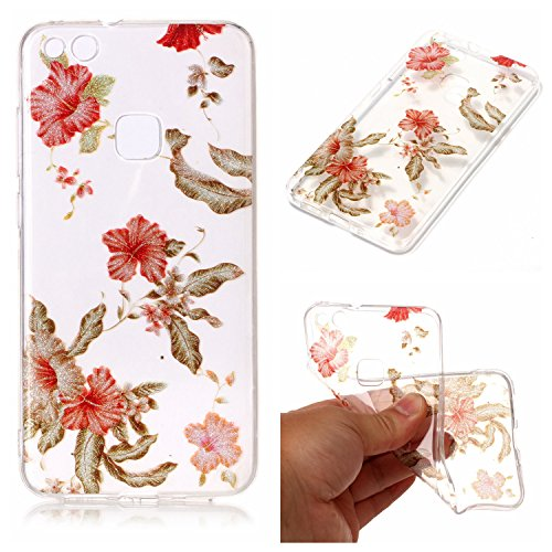 Price comparison product image Huawei P10 Lite Case, Huawei P10 Lite Silicone TPU Transparent Cover, Cozy Hut Huawei P10 Lite Luxury Shining Bling Printing Drawing Design Scratch Resistant TPU Bumper Clear Flexible Silicone Back Soft Protective Case Cover for Huawei P10 Lite - Azalea