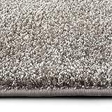 casa pura Shaggy Teppich Bali | Weicher Hochflor Teppich für Wohnzimmer, Schlafzimmer und Kinderzimmer | mit GUT-Siegel | Verschiedene Größen | viele Moderne Farben (66 x 130 cm, grau)