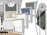 """Seitenzugrollo """"Blackout"""" in 4 Farben & in 6 Größen - Verdunkelungsrollo mit reflektierender Rückseite – kinderleichte 3-Step Montage, ca. 80 x 210 cm, anthrazit"""