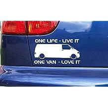 VW Transporter Van One Life Live It Love It T4 T5 Vinyl Die Cut Sticker Decal Black 150mm x 80mm