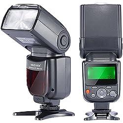 Neewer Flash Speedlite TTL NW-670 avec Ecran LCD pour Canon 7D Mark II, 5D Mark II III, IV, 1300D, 1200D, 1100D, 750D, 700D, 650D, 600D, 550D, 500D, 100D, 80D, 70D, 60D et Autres Caméra Numériques Canon