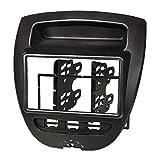 tomzz Audio 2408-020 Doppel DIN Radioblende für Citroen C1, Peugeot 107, Toyota Aygo, schwarz