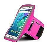 Magenta Outdoor Running Gym Sport Armband Fall für iPhone 7Plus/Samsung Galaxy S7Edge/J7J5/Motorola Moto G4Plus/G4/Moto Z Play/Moto X Play/X Force/X Style/LG Stylus 2