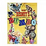 Pritties Accessories Authentique Disney Classic Dumbo Affiche de Film Aimant de réfrigérateur Cadeau rétro éléphant