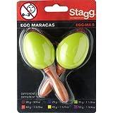 Stagg EGG-MA S/GR OEufs Maracas en plastique Vert