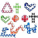 Mini Cubo de Serpiente de 10 Piezas,Mini Puzzle de Plástico Cubo de...