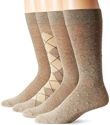 Dockers Men's 4 Pack Argyle Dress Socks (Top Knit Argyle)