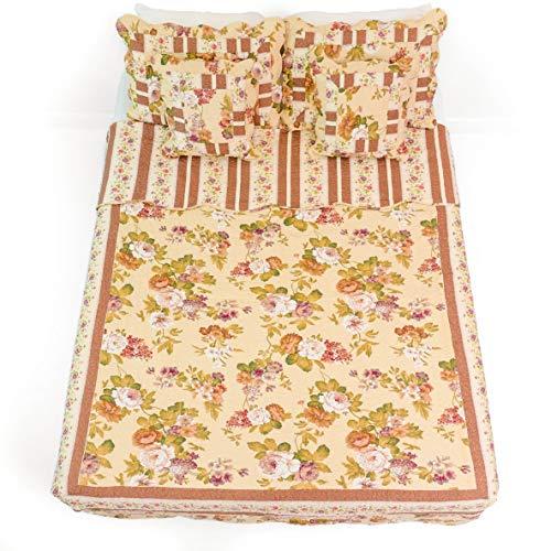 Cottage Garden Quilt (Dada Bettwäsche wendbar echtes Patchwork Rose Garden Quilt Tagesdecke Set, Floral, baumwolle, multi, Twin)