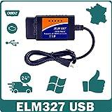 MISTER DIAGNOSTIC Diagnose-Koffer ELM327 OBD2 USB, für mehrere Marken, Kfz-Diagnose, Fehlercode-Lesegerät