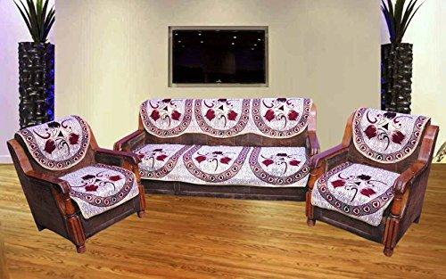 India Online Premium Polycotton Sofa Cover (Set Of 10 Pcs) Multi-Color