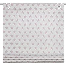Home Fashion 91133-734 - H: 140 x B: 100 cm estor, de tela con impresión, Colour Malva