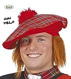 Guirca Fiestas GUI13312 - Schottischer Hut mit Haaren