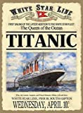 Titanic advert. White Star Line. 1912. Southampton to New York. Steam Passenger Liner. Rge Queen of the Ocean. Large Metal/Steel Wall Sign