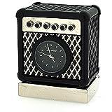 Nouveauté! Horloge Miniature de Collection en Forme d\'Amplificateur Noir et Argenté sur Pied