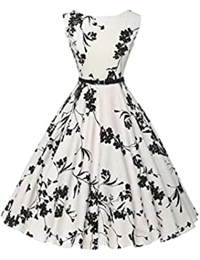Vestido de fiesta casual sin mangas de la floral de la impresión de de las muje mujeres de la im de la boda de...