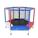 JKLL Innen- / Außentrampolin mit Gehäuse, 5 Fuß rund und 40 Zoll groß, rot und blau...