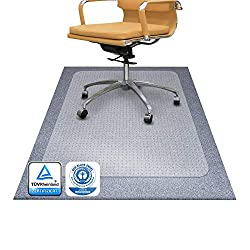 Bodenschutzmatte PET ®Performa für Teppichböden mit TÜV und Blauer Engel - 4 Größen wählbar - 92x122cm