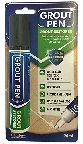 Grout Pen Large Gris Oscuro – Ideal para restaurar la apariencia d