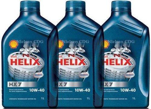 Shell Helix HX710W40Motoröl halbsynthetisch 3Dosen à 1Liter = 3Liter
